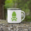 Hop Skull and Crossbones 11oz Stainless Steel Camping Mug