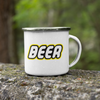 Beer Brick Building Blocks 11oz Stainless Steel Camping Mug