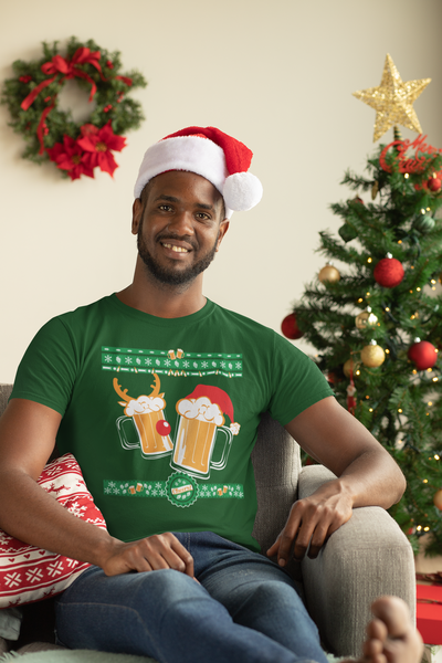 Tasty Brew Christmas Beer Sweater Beer T-Shirt Action Shot