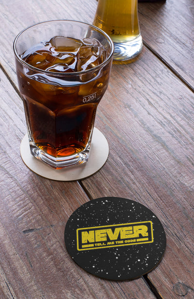 Never Tell Me The Odds Beer Coaster Action Shot