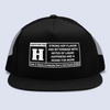 Rated H For Hops Flat Bill Trucker Hat
