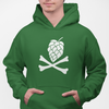 Hops and Crossbones Craft Beer Pullover Hoodie