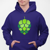 Stained Glass Hop Cone Craft Beer Pullover Hoodie