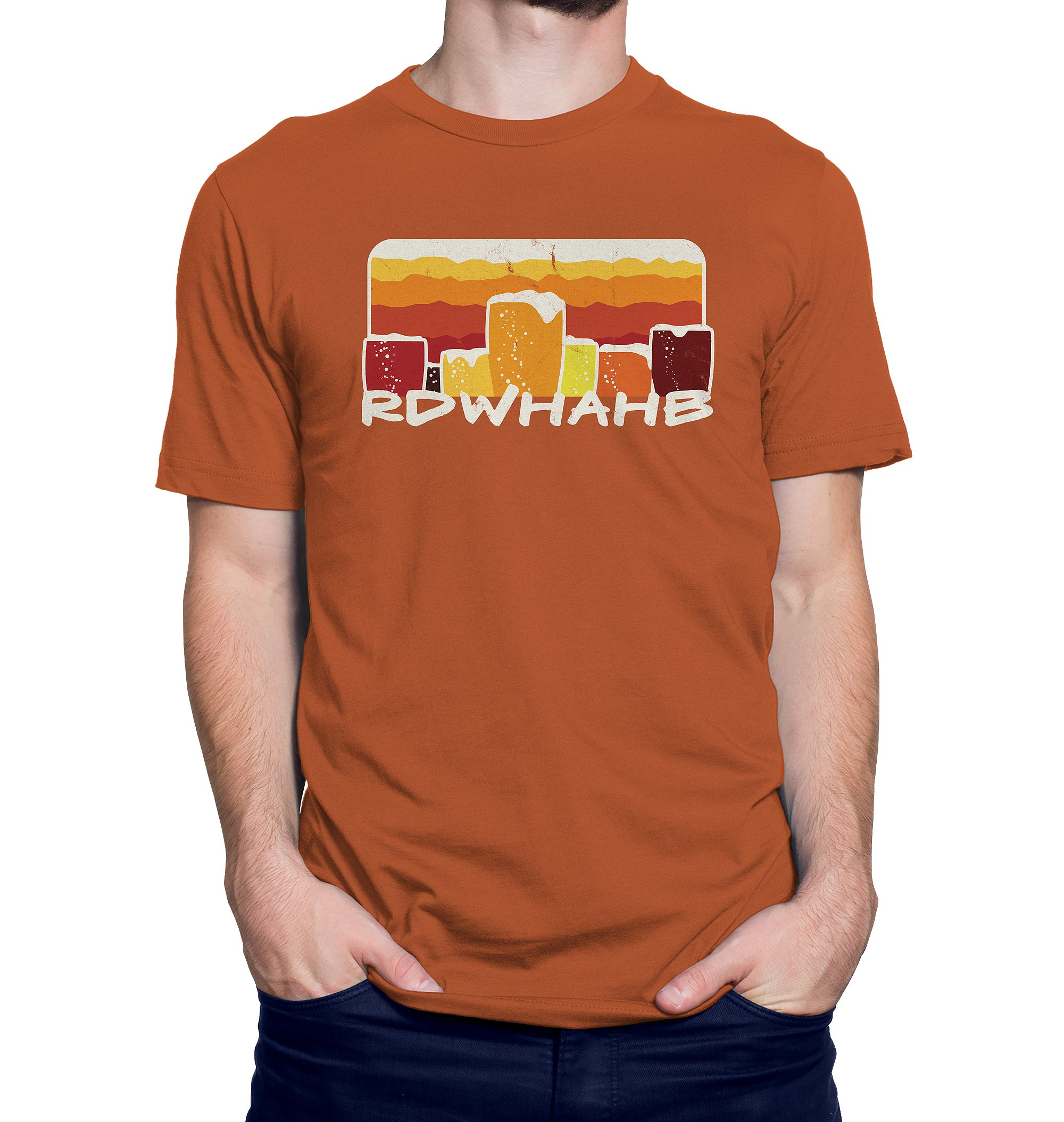 Relax, Don't Worry, Have a Homebrew Craft Beer T-Shirt on Model