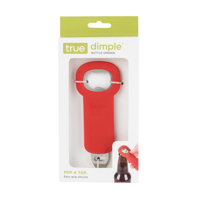 Red Dimple Bottle Opener in Packaging