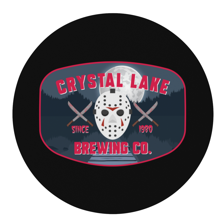Crystal Lake Brewing Company Round Beer Coaster
