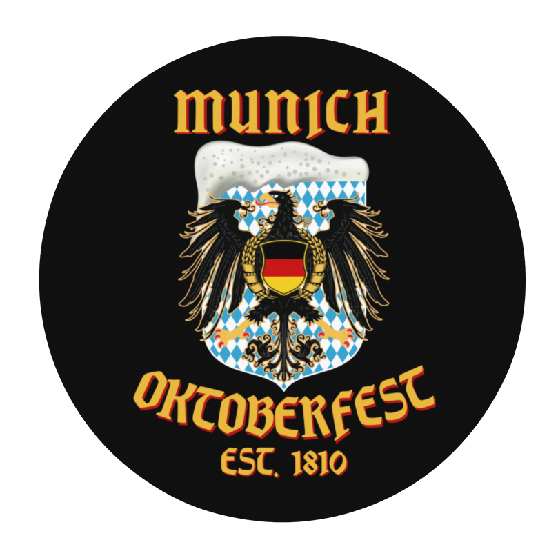 Munich Oktoberfest Eagle Round Beer Coaster