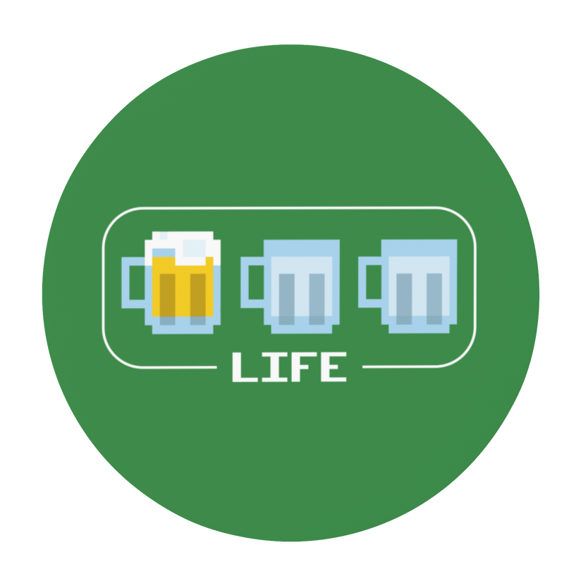 Beer Life Bar Round Beer Coaster