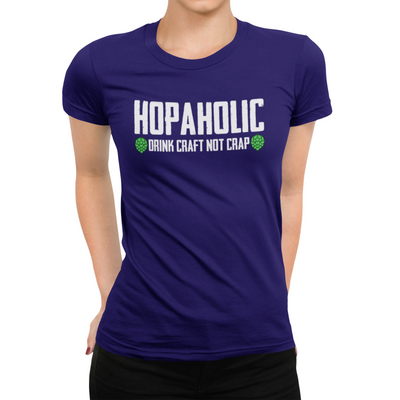 Hopaholic Drink Craft Not Crap Beer T-Shirt