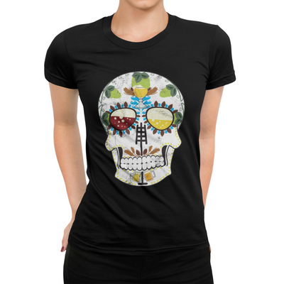 The Brewers Sugar Skull Craft Beer T-Shirt