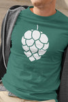 Hop Cone Beer T-Shirt Green Action Shot