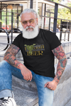 I LoveCRAFT Beer T-Shirt Action Shot on Model with Gray Beard
