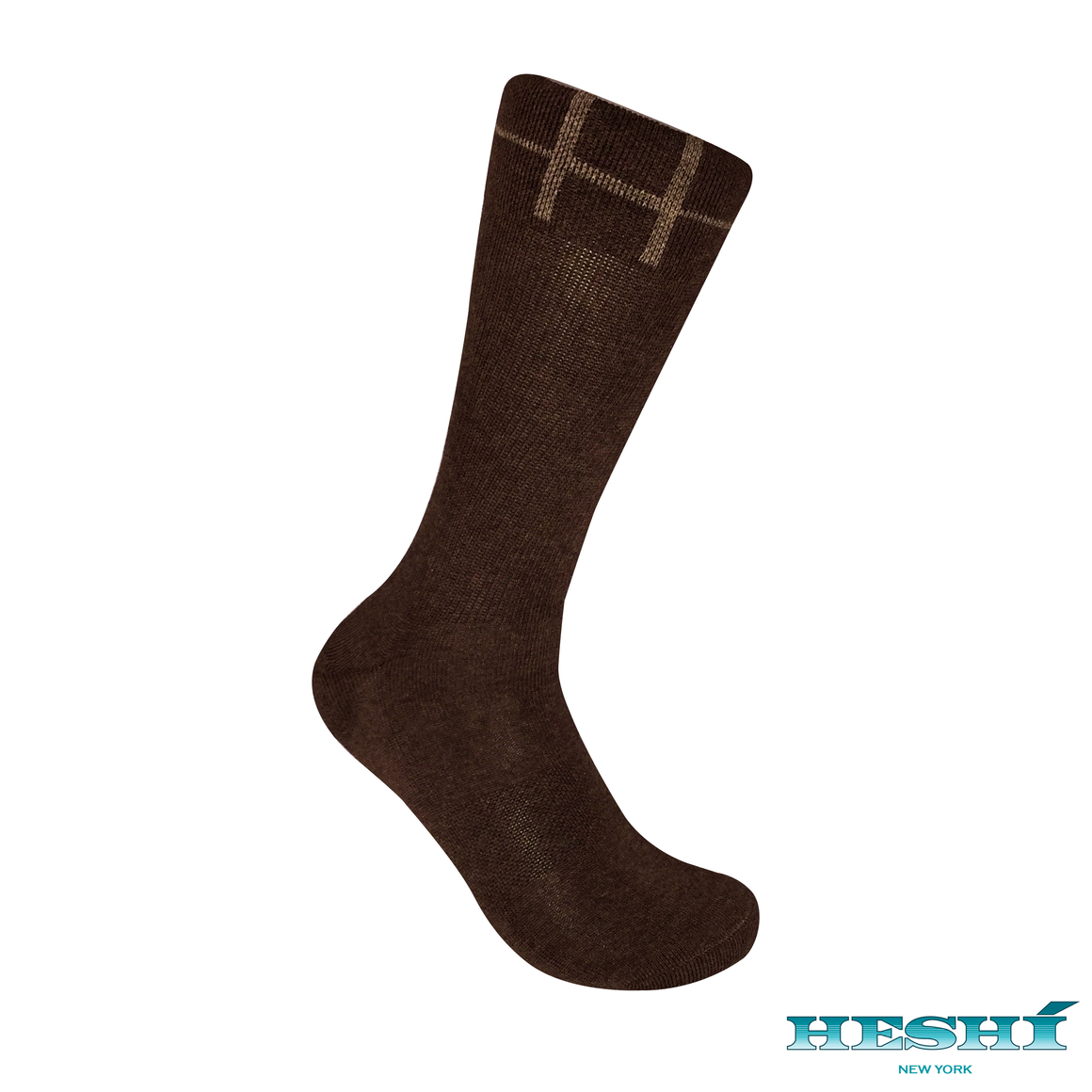 Heshí Basic Crew Sock - Brown