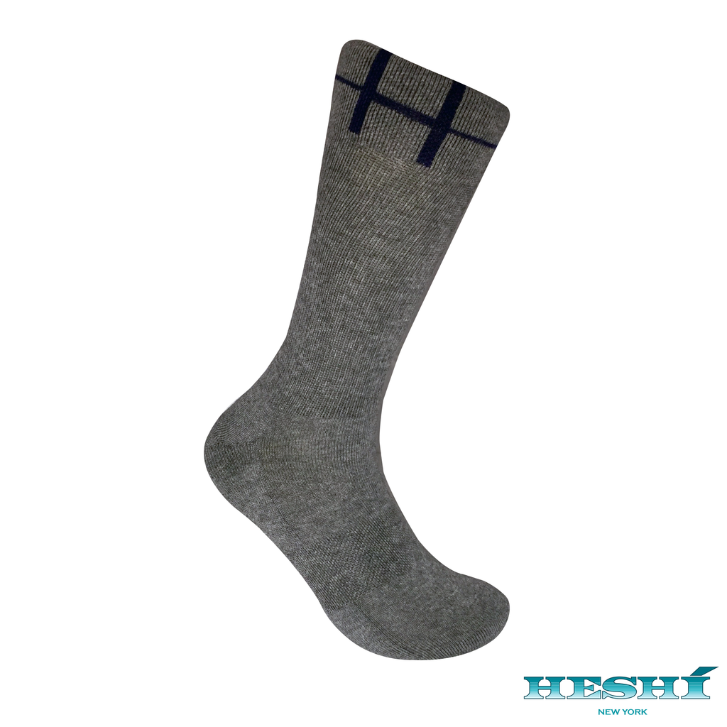 Heshí Basic Crew Sock - Heather Grey