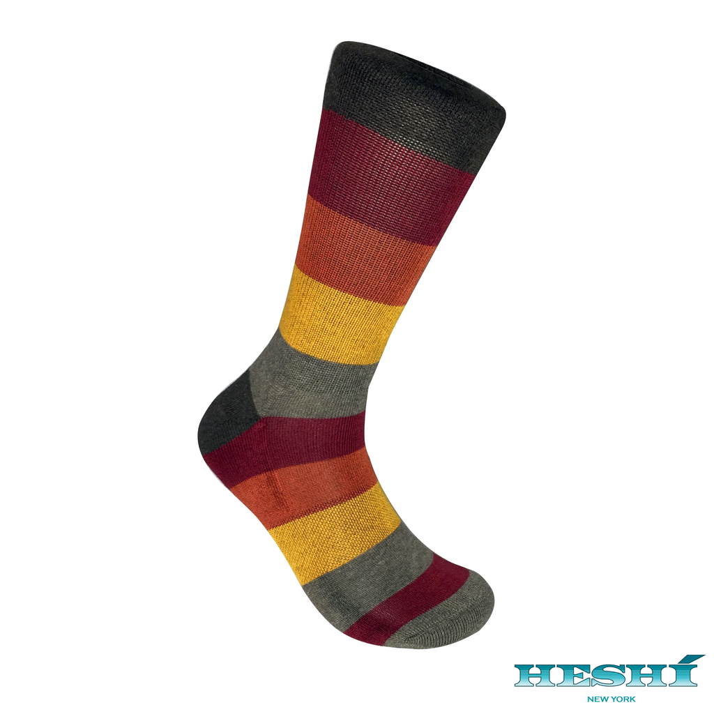 Heshí Rugby Five Sock - Brown