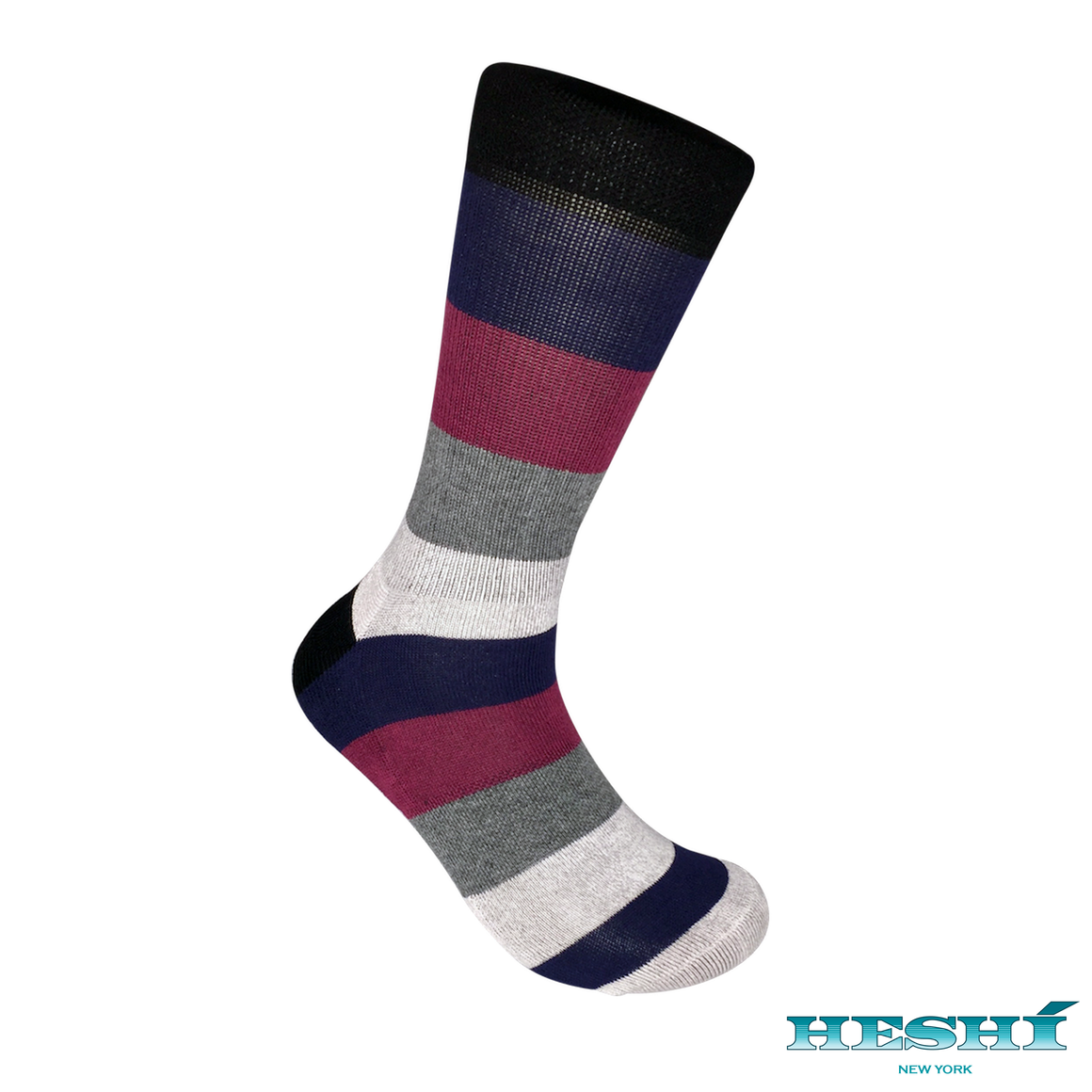 Heshí Rugby Five Sock - Red/Blue
