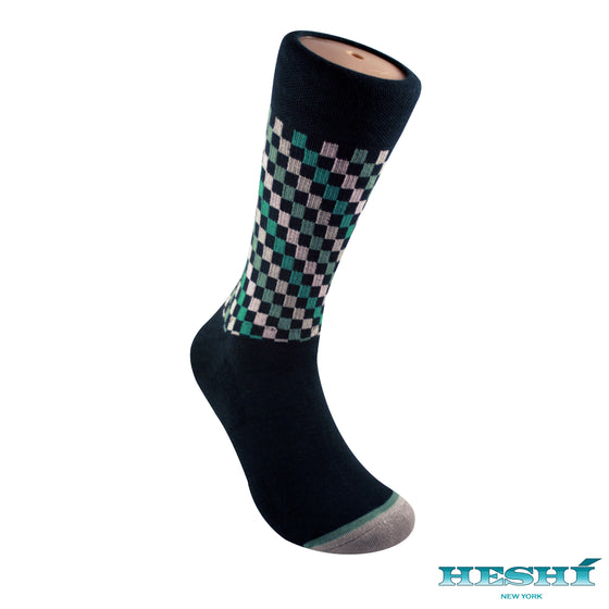Heshí Fashion Crew Sock - Green