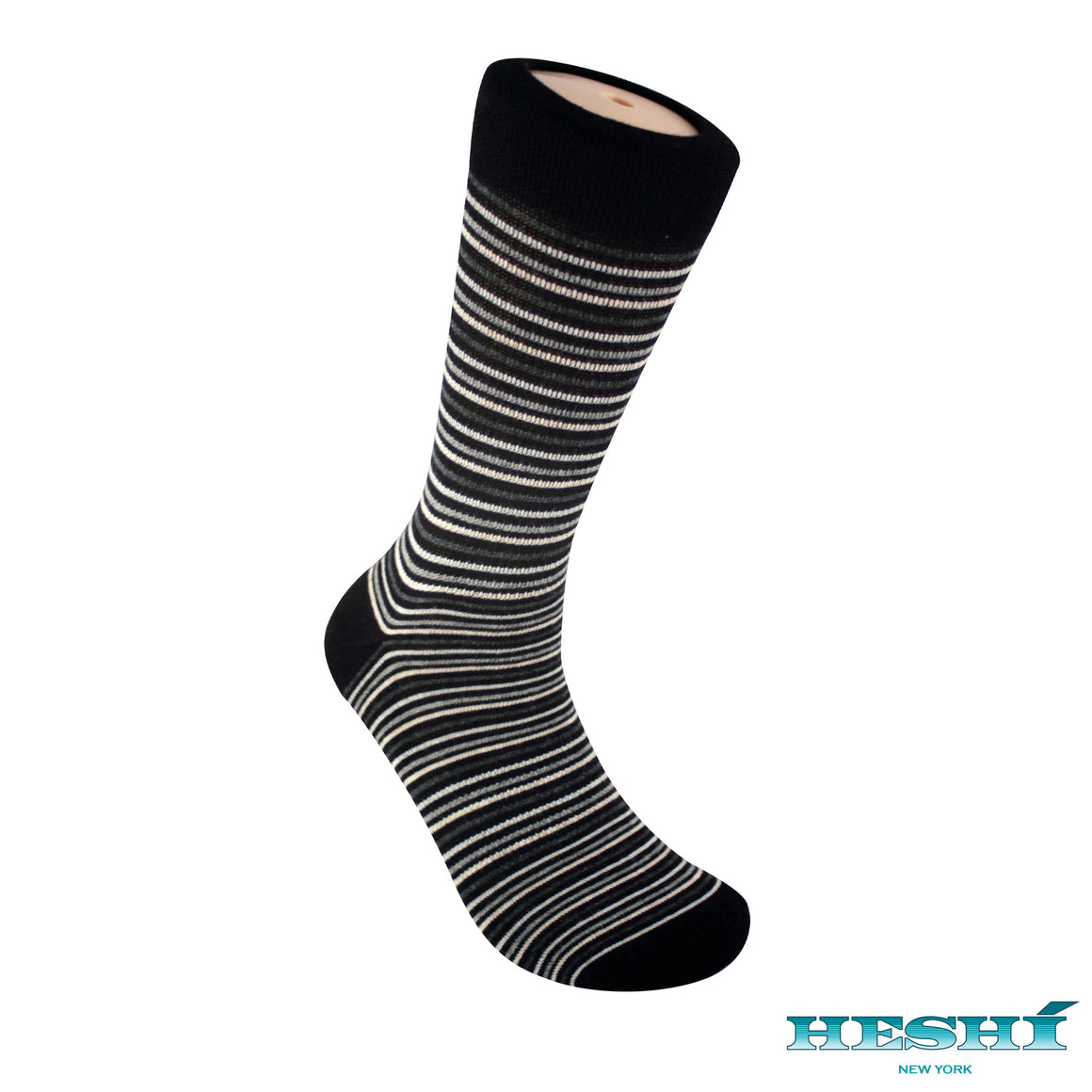 Heshí Thin Stripe Sock - Black