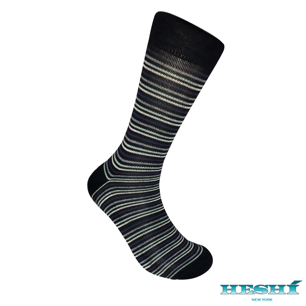 Heshí Thin Stripe Sock - Black II