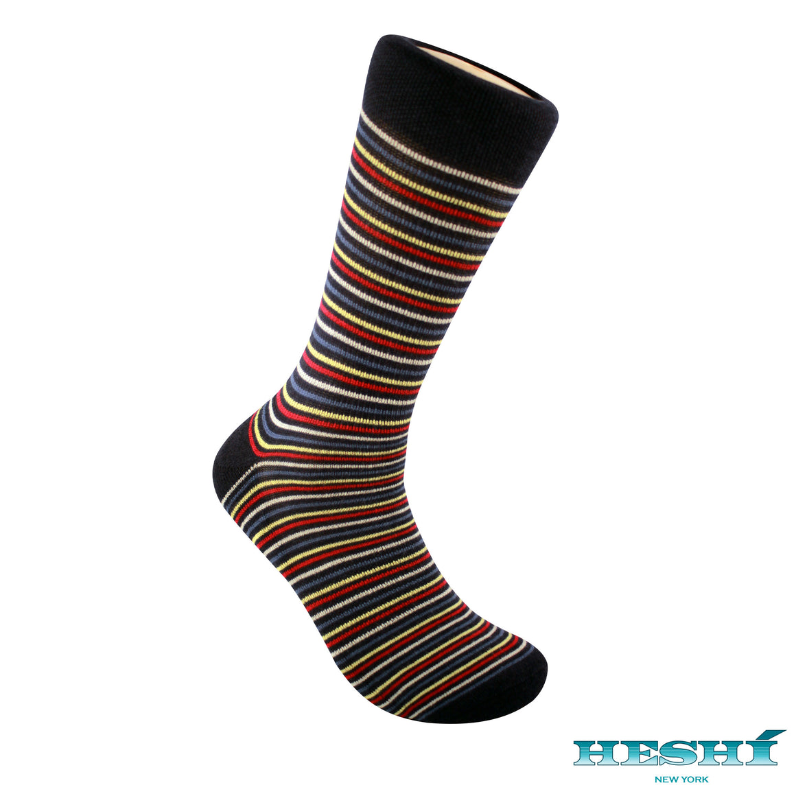 Heshí Thin Stripe Sock - Blue
