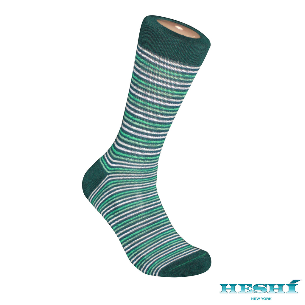 Heshí Thin Stripe Sock - Green