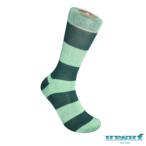Heshí Rugby Stripe Sock - Green