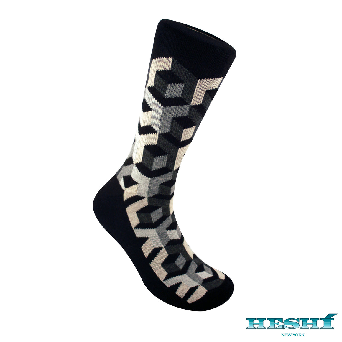 Heshí Illusion Box Sock - Black