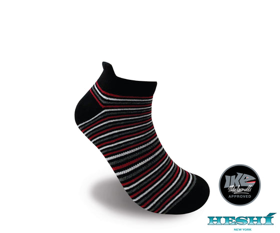 Heshí Ankle Sock - Iaconelli Black Stripe