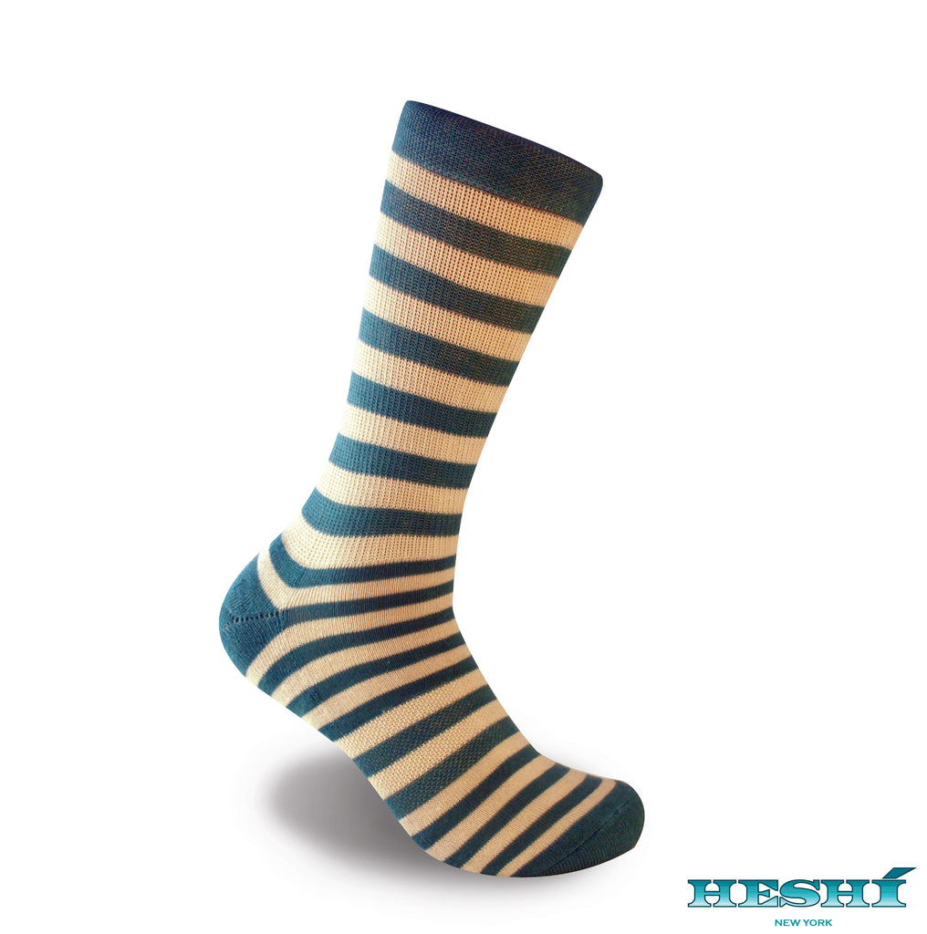 Heshí Medium Stripe Sock - Blue