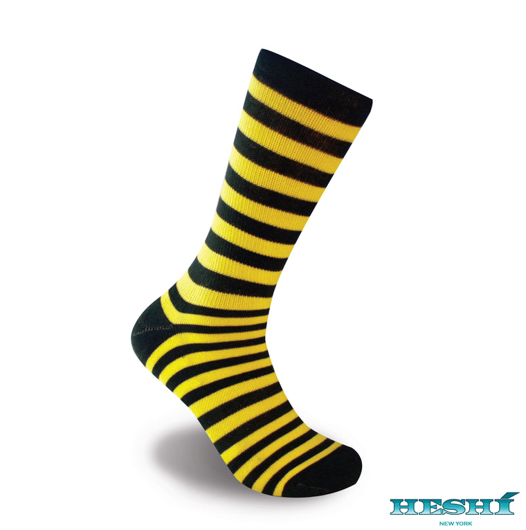 Heshí Medium Stripe Sock - Yellow/Green