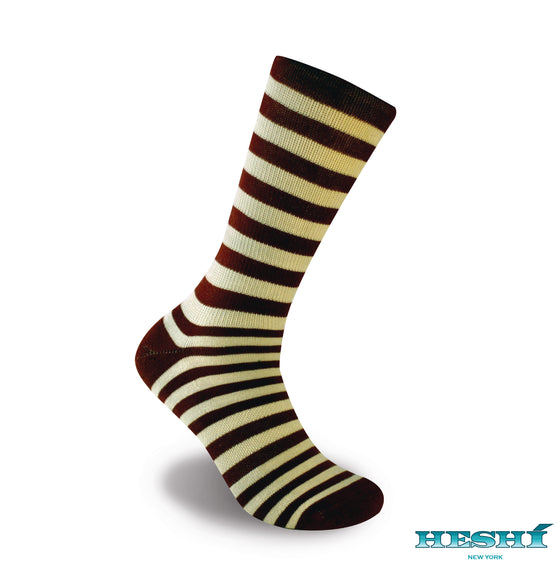 Heshí Medium Stripe Sock - Red