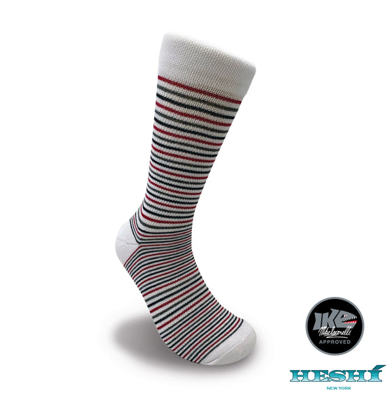 Heshí Thin Stripe Sock - Iaconelli White