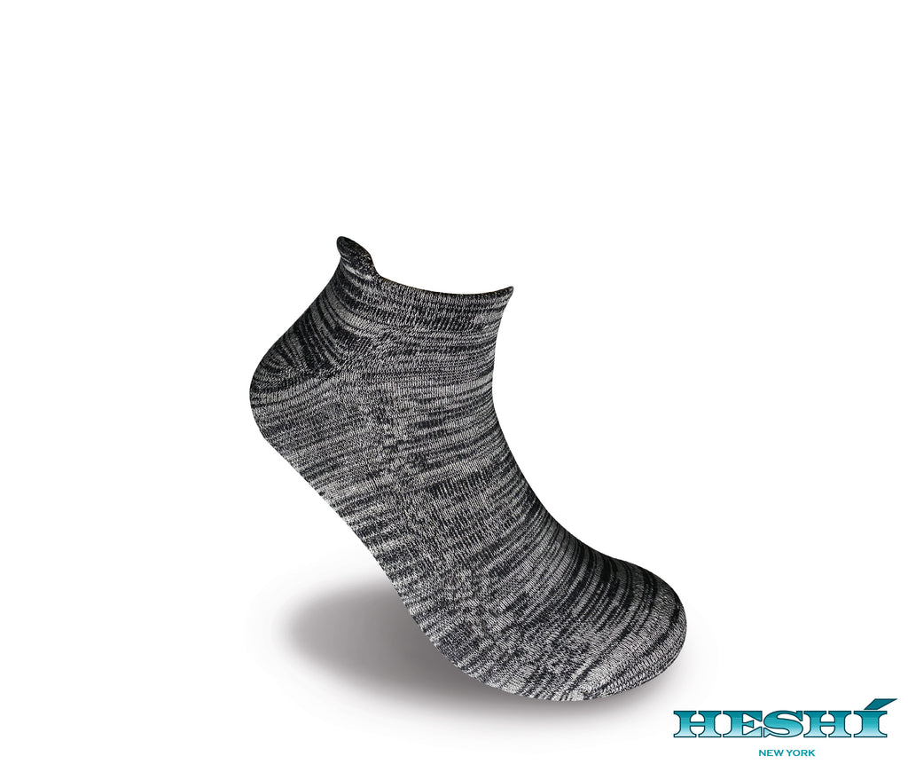 Heshí Ankle Sock - Heathered Black