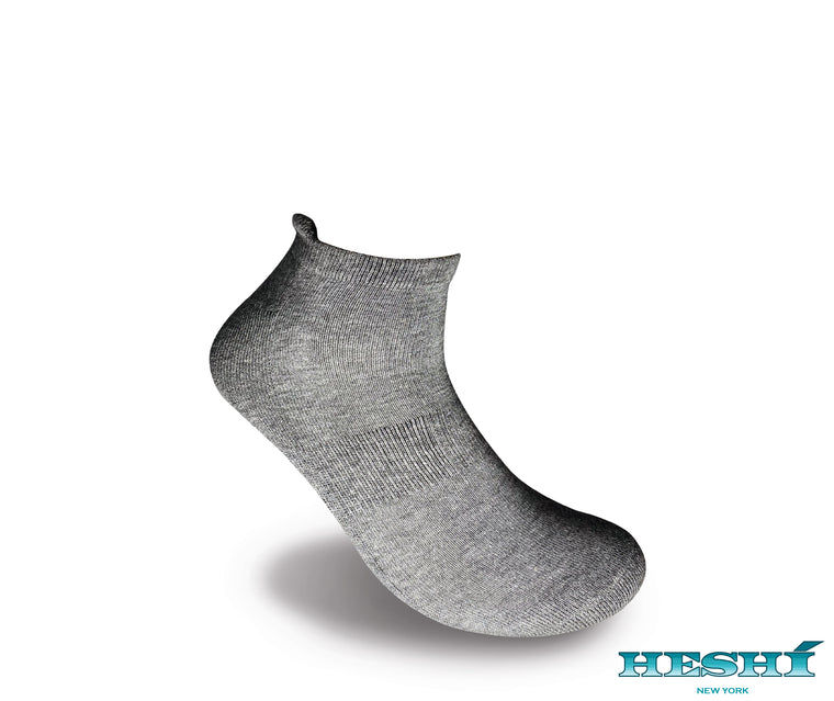Heshí Ankle Sock - Heather Grey