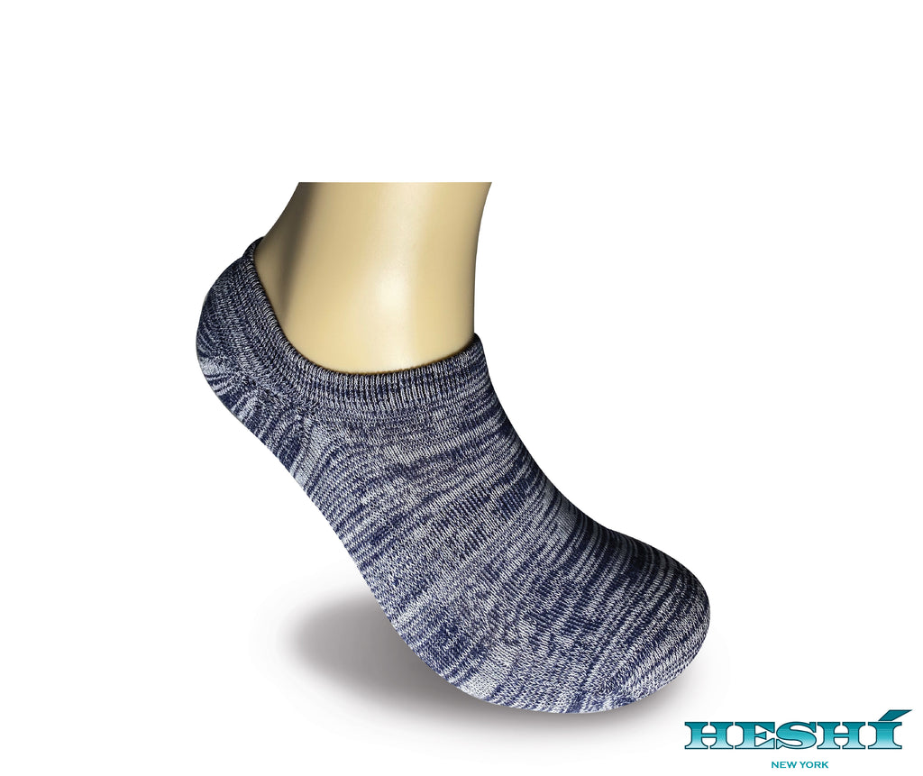 Heshí Invisible Liner Sock - Heathered Blue