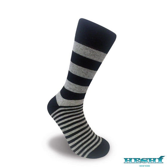 Heshí Alt Stripe - Black / Heather Grey