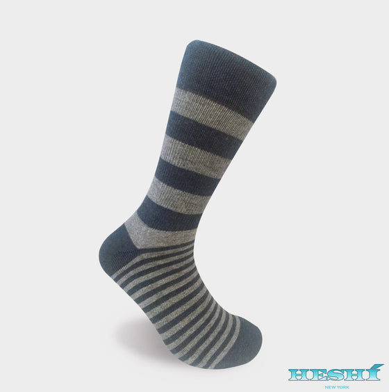 Heshí Alt Stripe - Grey / Heather Blue