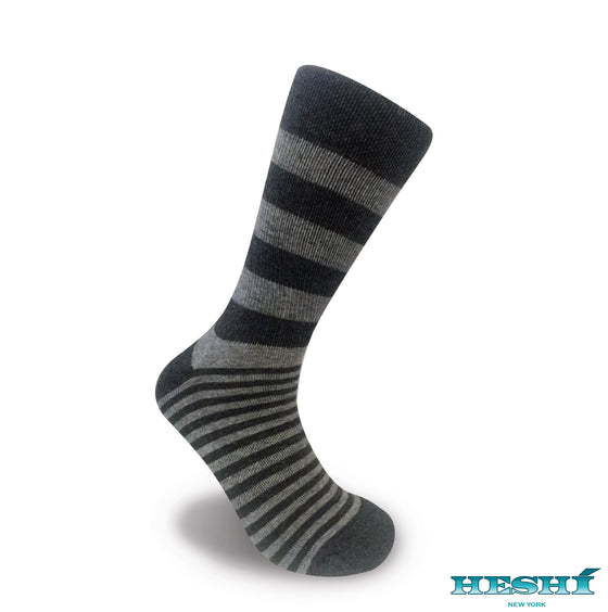 Heshí Alt Stripe - Charcoal / Heather Grey
