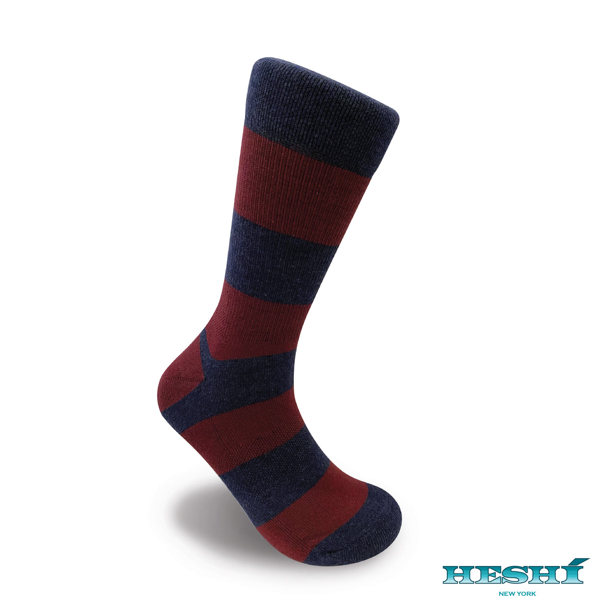 Heshí Rugby Stripe Sock - Heather