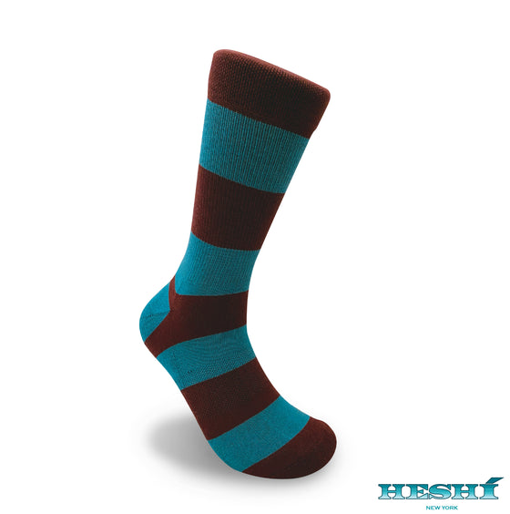 Heshí Rugby Stripe Sock - Port