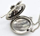 Silver Dragonfly Locket and Aromatherapy Necklace - Strong Wired