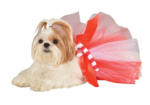 Holiday Candy Cane Pet Tutu - (S-M)