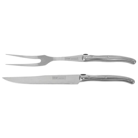 Slitzer German STAINLESS STEEL CARVING KNIFE - 2 Piece GIFT SET