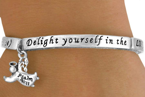 Angel Charm Bracelet - Delight Yourself In The Lord