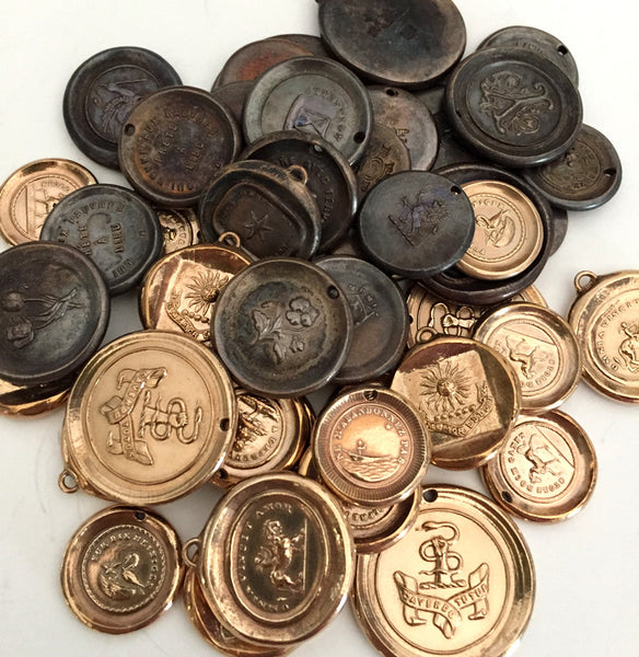 bronze wax seal pendants