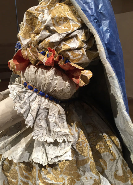 Detail of paper dress