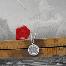 Load image into Gallery viewer, Quiet Without Active Within - Silver Wax Seal Necklace Keep Calm - RQP Studio