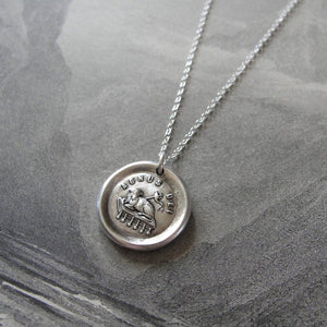 Lamb of God Wax Seal Necklace - Agnus Dei - Latin religious devotion antique wax seal charm jewelry - RQP Studio