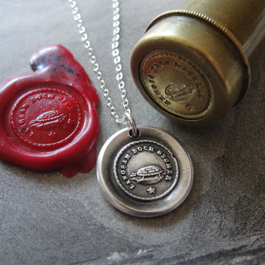 Turtle Wax Seal Necklace Slow But Sure Tortoise