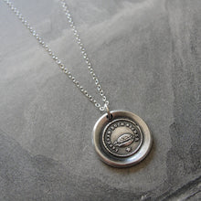 Load image into Gallery viewer, Wax Seal Necklace Slow But Sure antique Tortoise jewelry Turtle charm Endurance Determination - RQP Studio
